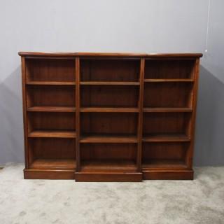 Late Victorian Mahogany Open Bookcase