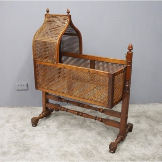William IV Cane and Mahogany Cradle