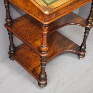 Burr Walnut Inlaid Davenport Desk