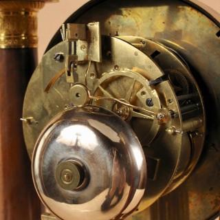 A French Very Stylish Charles X Period (1824-1830) Mahogany Portico Clock