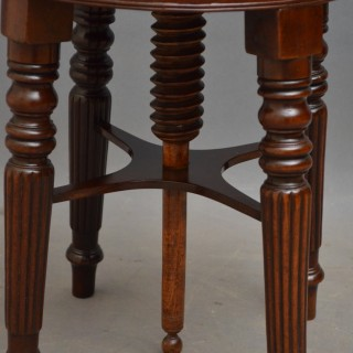 Regency Mahogany Piano Stool