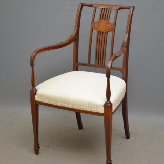 Edwardian Carver Chair in Mahogany