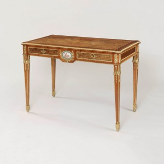 19th Century Walnut and Marquetry Centre Table