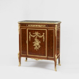 19th Century Ormolu-Mounted Parquetry Cabinet