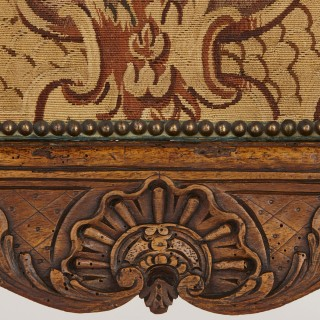 Régence period Beauvais tapestry and wood fire screen