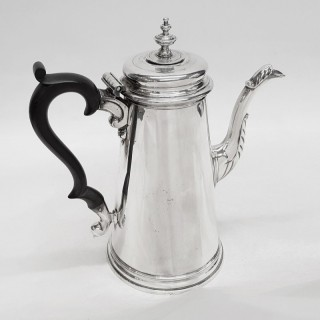 George II Silver Chocolate Pot