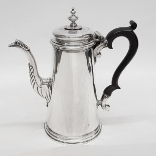 George II Silver Chocolate Pot