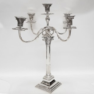 Antique Silver Plated Candelabras