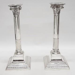Antique Silver Plated Candelabras