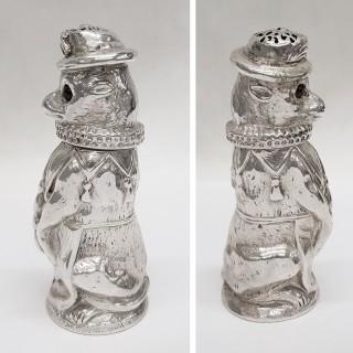 Victorian Silver Dog Pepper