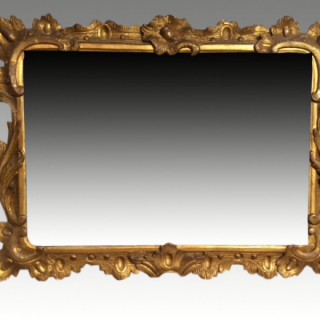 Chippendale carved giltwood mirror.