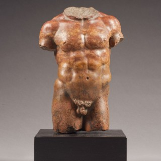 Grand Tour Carved Torso of Hercules, Italy, late 18th/19th Century