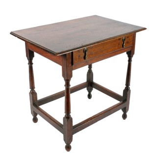 18th Century Oak One Drawer Table