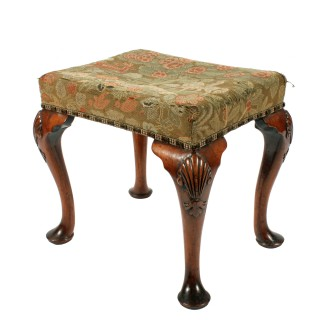 George II Style Walnut Stool