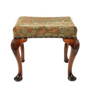 George II Style Walnut Stool