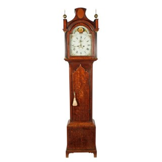 Georgian Rolling Moon Grandfather Clock
