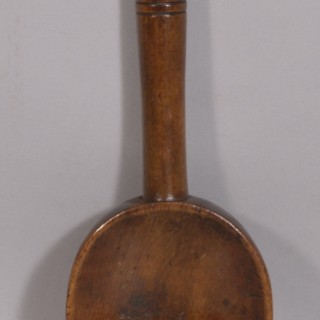 Antique Treen 19th Century Welsh Fruitwood Stirring or Serving Spoon