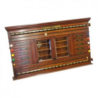 Mahogany Scoreboard by H. Nelmas and Co, Glasgow