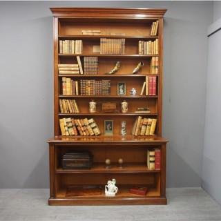 William IV Mahogany Open Bookcase
