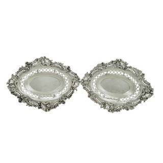 Pair of Antique Victorian Sterling Silver 8