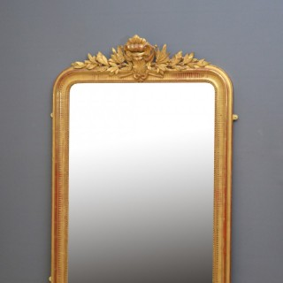 Large XIXth Century French Gilded Mirror