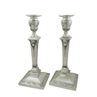 Pair of Antique Victorian Sterling Silver 11