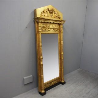 19th Century Empire Gilded Mirror