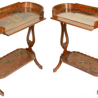 Pair of 19th Century Satinwood Side Tables