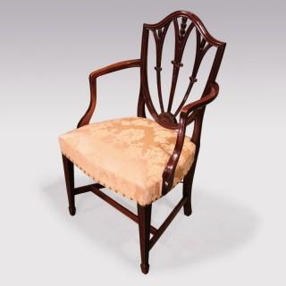Late 18th Century Hepplewhite Mahogany Armchair