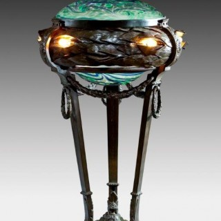 An American Art Nouveau lamp