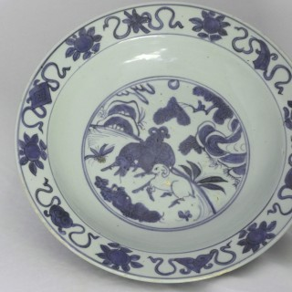 Ming Blue and White Deep Charger