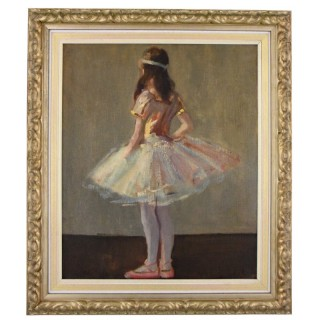 Art Deco painting of a ballerina girl