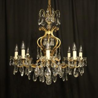 Italian Gilded 9 Light Antique Chandelier