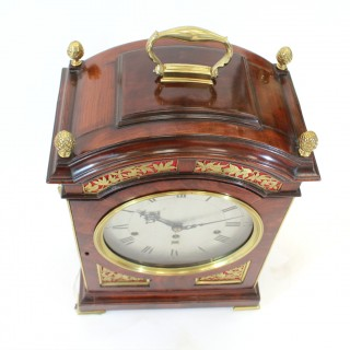 Bell-chiming verge Bracket Clock by Wagstaffe, London