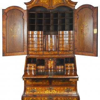 Dutch Marquetry Inlaid Armoire, 18th Century