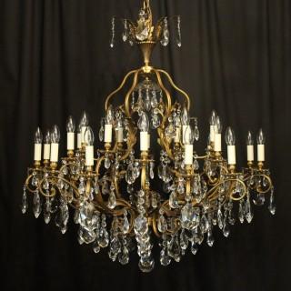 Italian Gilded 25 Light Antique Chandelier