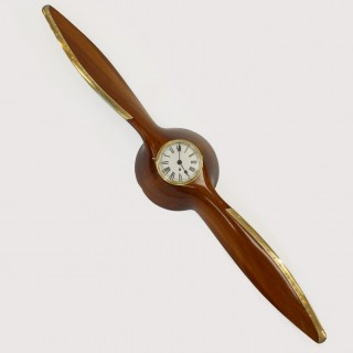 Laminated Wooden Propeller with clock