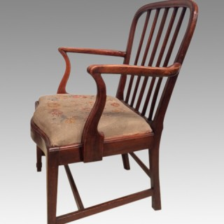 A set of 6 Geo III elm dining chairs.