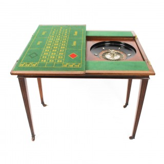 Antique French Burr Walnut Games Roulette Table 19th Century