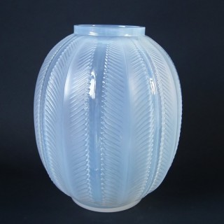 Rene Lalique Cased Opalescent Glass 'Biskra' Vase