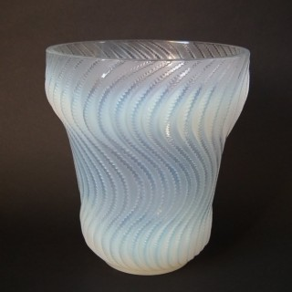 Rene Lalique Opalescent Glass 'Actinia' Vase