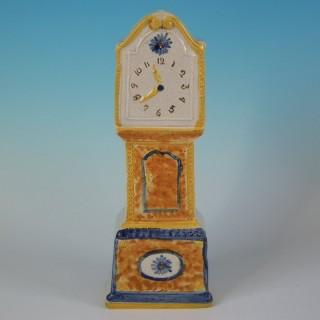Staffordshire Prattware Long Case Clock Model