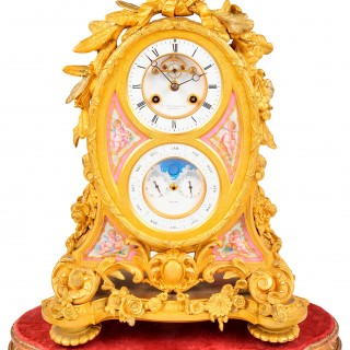 French Ormolu Calendar Mantel Clock