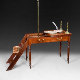A rare Regency mahogany metamorphic library table/steps