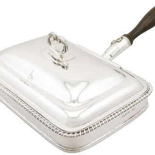 Antique George IV Sterling Silver Cheese Toaster Dish