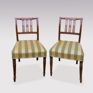 Set Of Six Early 19th Century Regency Mahogany Single Dining Chairs