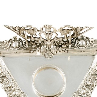 Victorian Sterling Silver Inkwell Stand