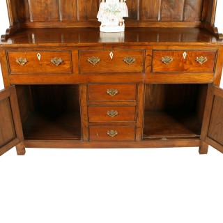 Georgian Style Elm Dresser & Rack