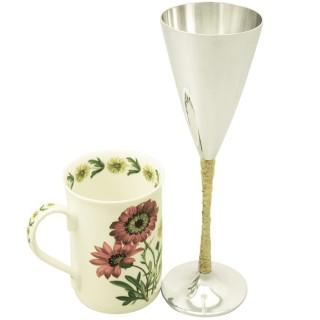Sterling Silver Champagne Flutes Set of Six by Stuart Devlin - Vintage Elizabeth II