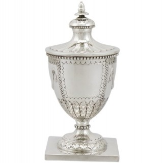 Sterling Silver Ink Pot by Mappin & Webb Ltd - Antique George V (1930)